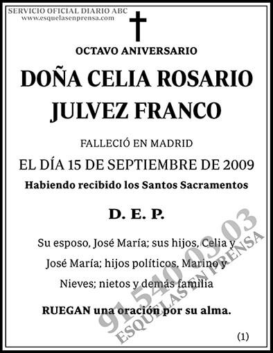 Celia Rosario Julvez Franco
